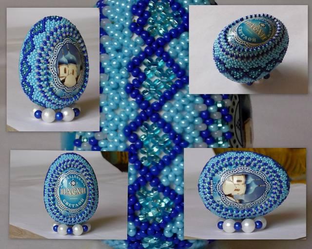 Орнамент на голубом фоне с