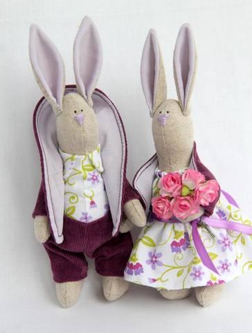 Тильда зайцы со стоячими ушами