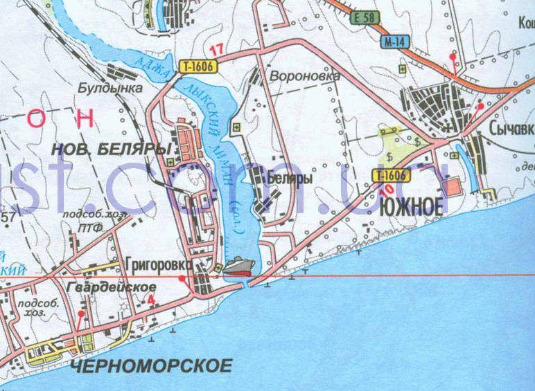 дорога от Одессы к Южному,