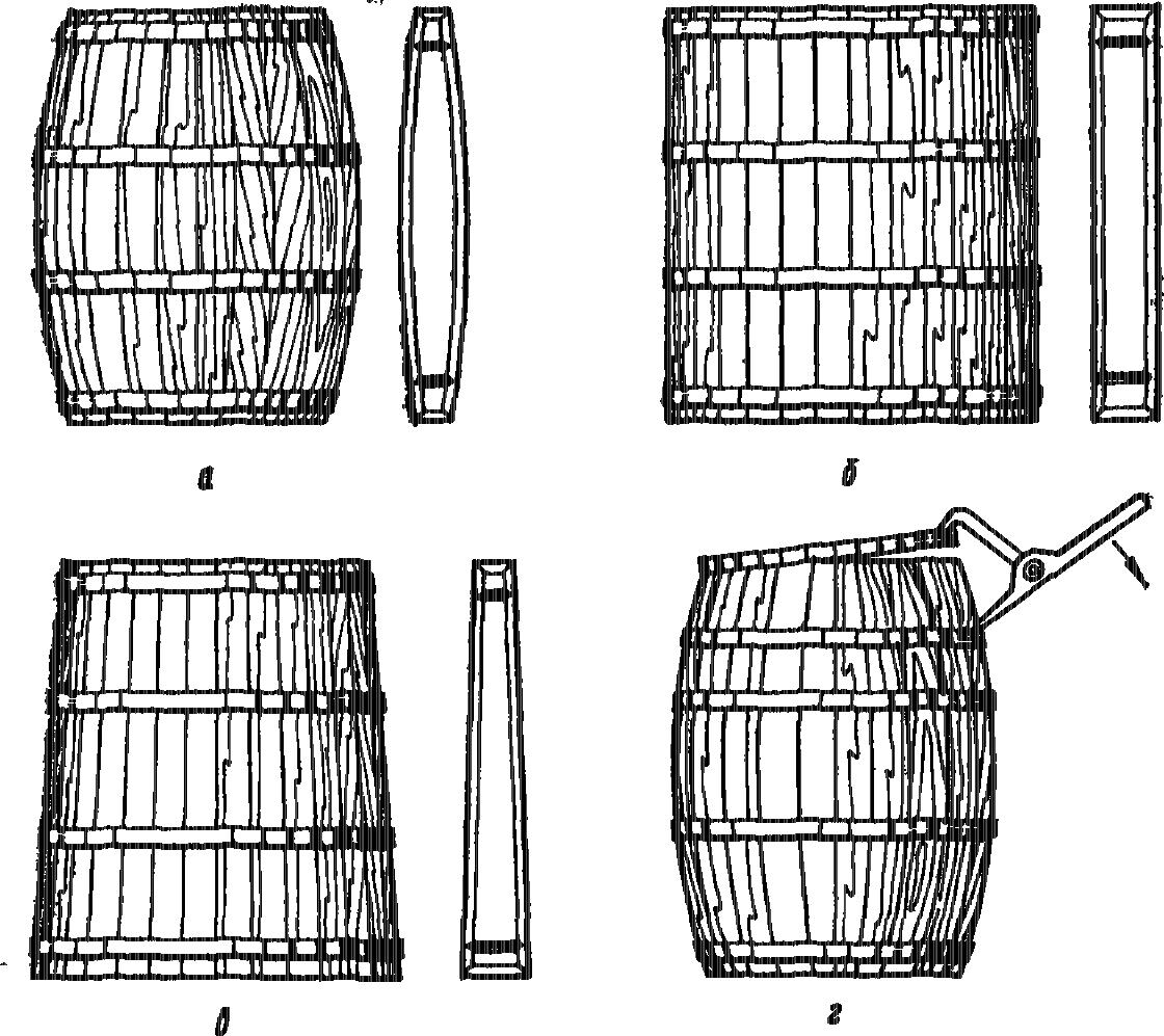 Изготовление бочек из дерева чертежи