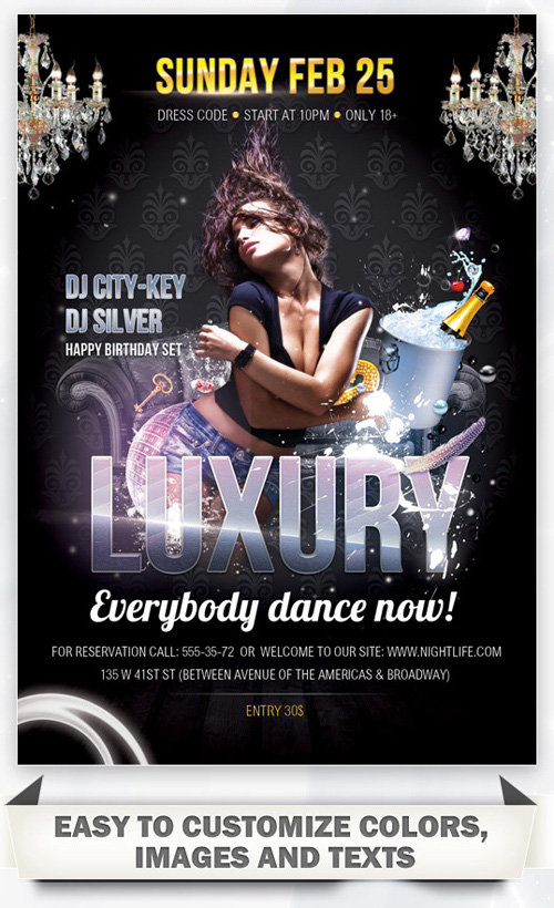 Luxury Party - Flyer PSD Template