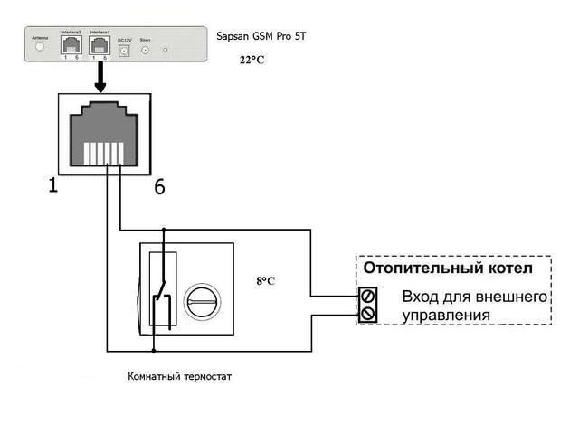 Схема подключения на рисунке