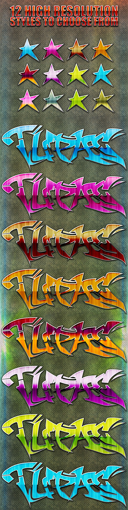 Glossy Graffiti Styles for Photoshop