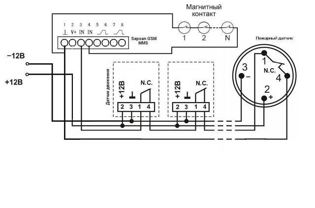 """Наглядная схема подключений Проводных зон и датчиков.   """"Последнее редактирование: 31 Мая 2013, 17:47:38 от Спец..."""