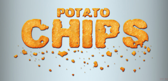 Potato Chips Style for Photoshop