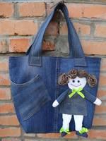 Аппликация на сумке из джинса своими руками