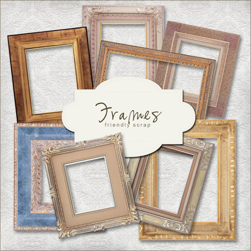 Scrap kit - Collection of Vintage Frames 3