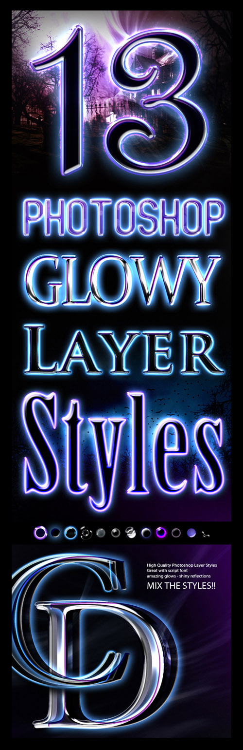 Glowy Styles for Photoshop