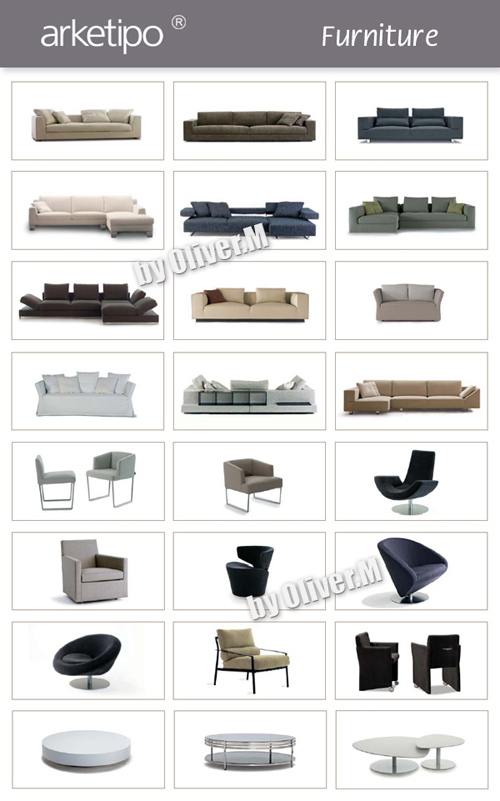 3D models of Furniture Arketipo