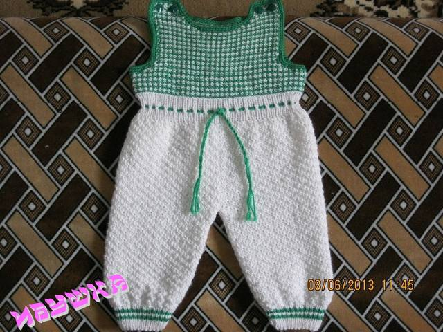 Вязание ползунков спицами для новорожденных
