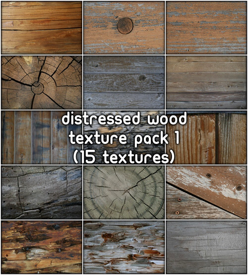 Distressed Wood Textures, pack 1