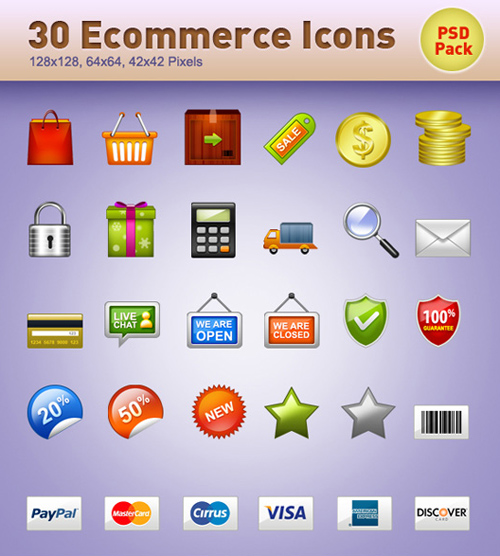 E-commerce Icons, Pack 2