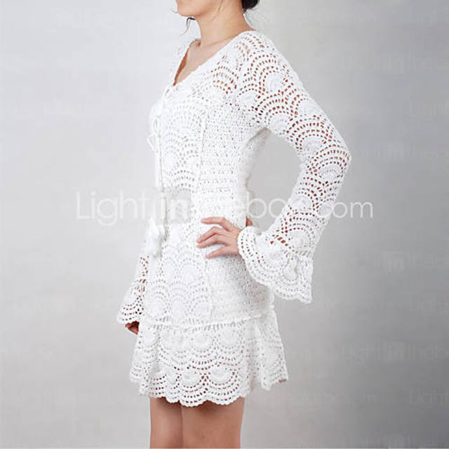 钩针连衣裙(1) - 柳芯飘雪 - 柳芯飘雪的博客