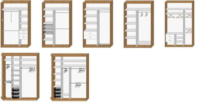шкафы купе 2 дверный схема