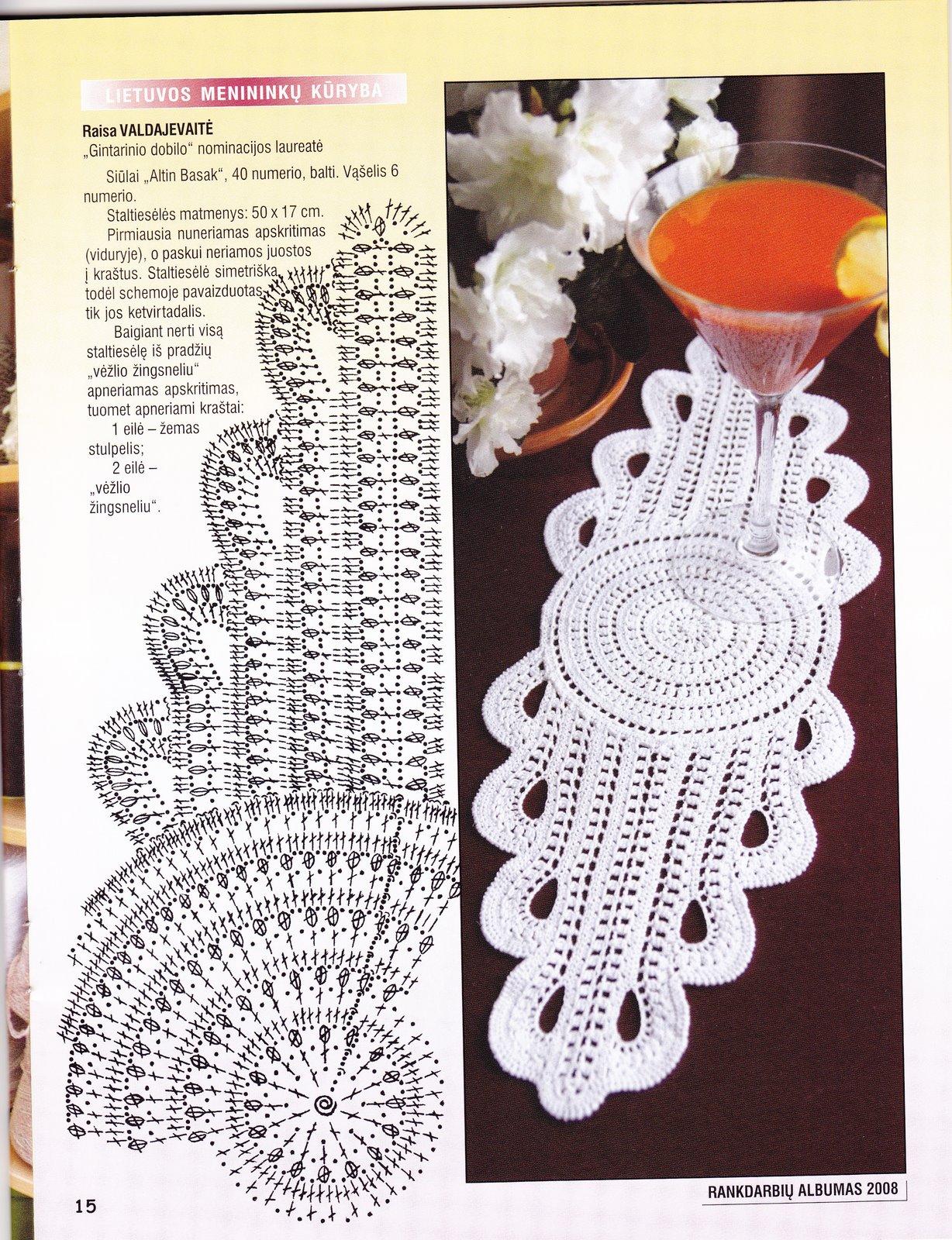 Салфетки овальные крючком со схемами и описанием фото