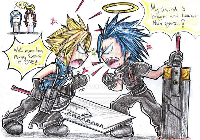 FF7 Silly Fight by LilDevil92