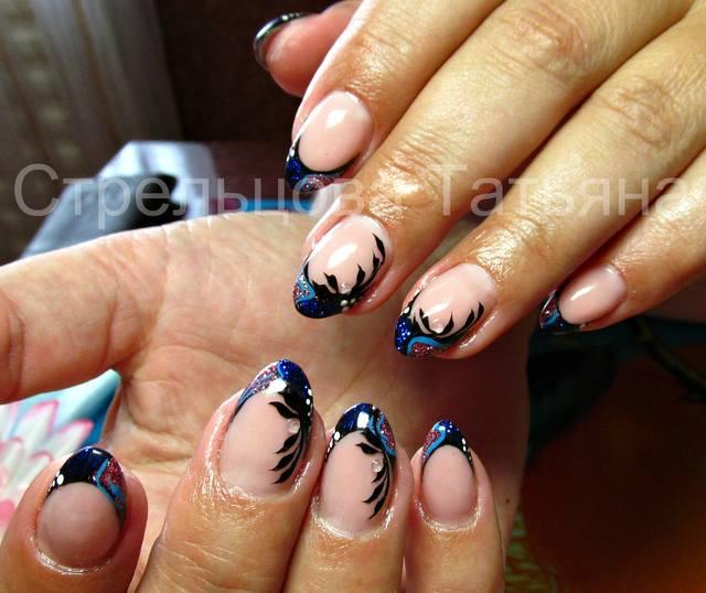 Китайская роспись ногтей любань