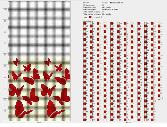 Узоры из бисера и схемы