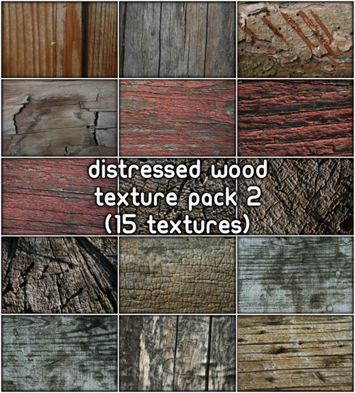 Distressed Wood Textures, pack 2