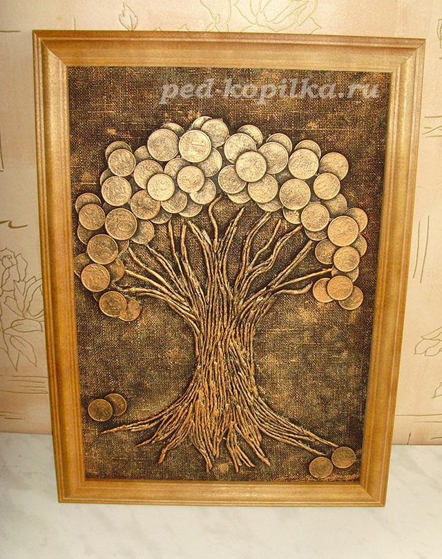 Денежное дерево своими руками мастер класс фото
