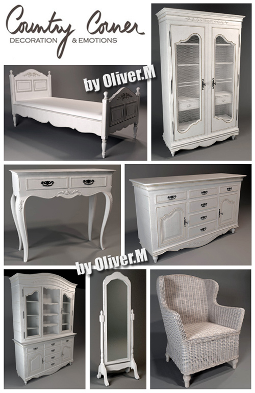 3d Models Of Classic Furniture Country Corner All Design