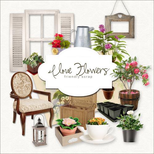Scrap kit - I Love Flowers