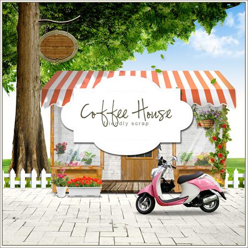 Coffee House on Boulevard - PSD source