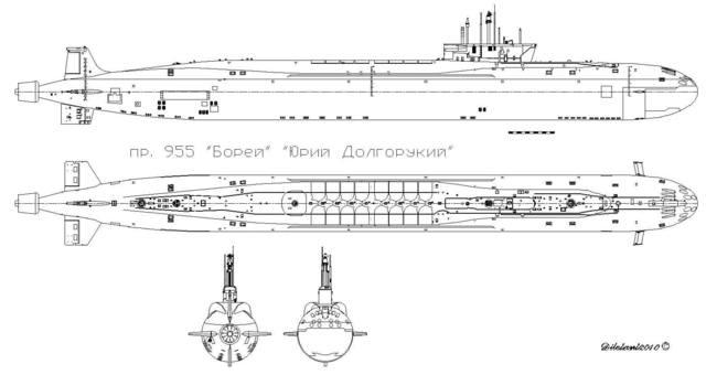 размер атомной лодки
