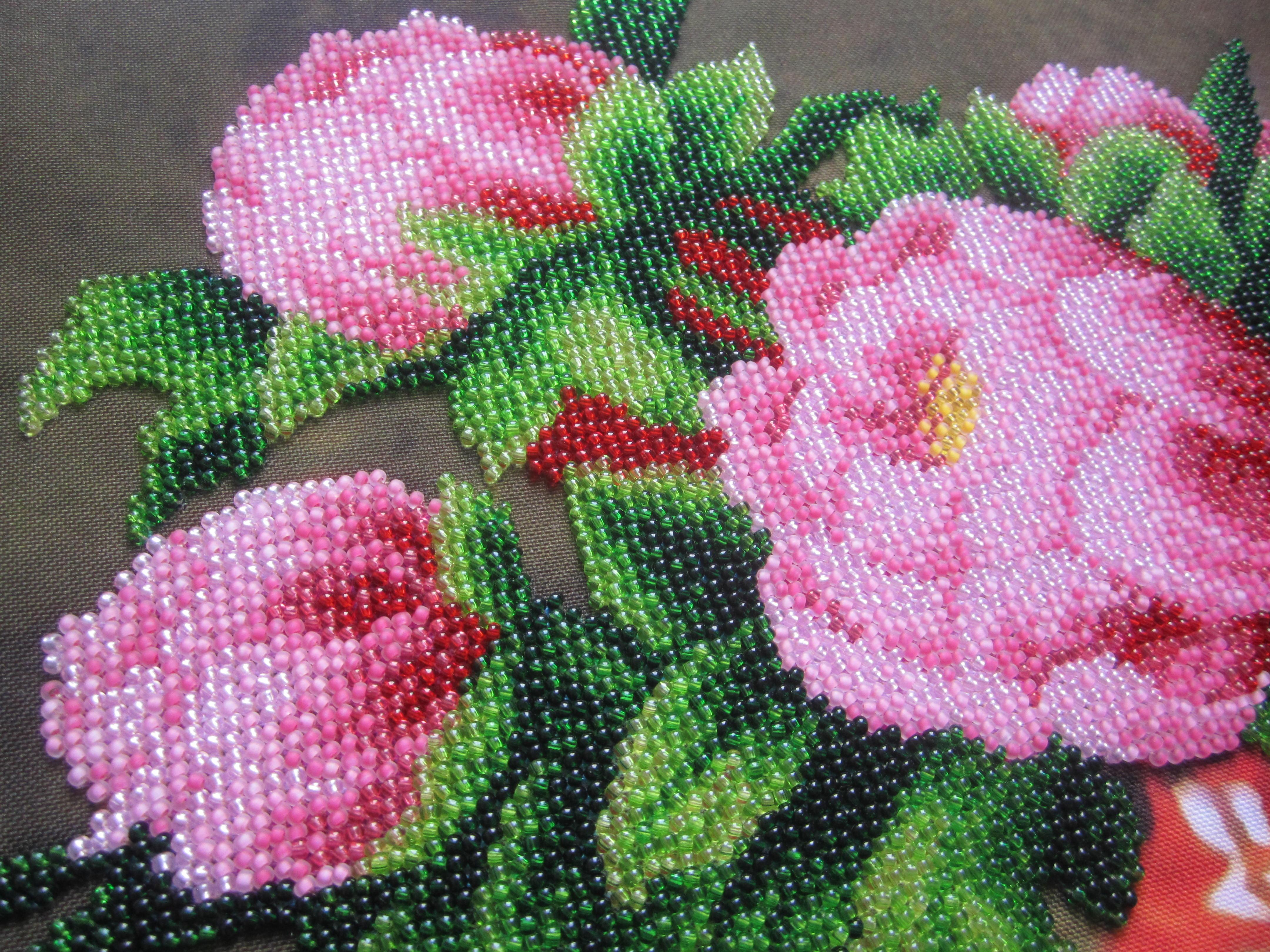 Картины бисером фото цветы