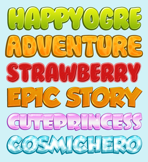 Cartoon Styles (with Fonts)