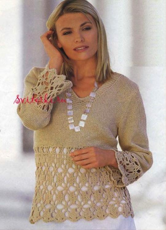 Вязание пуловеров большие размеры