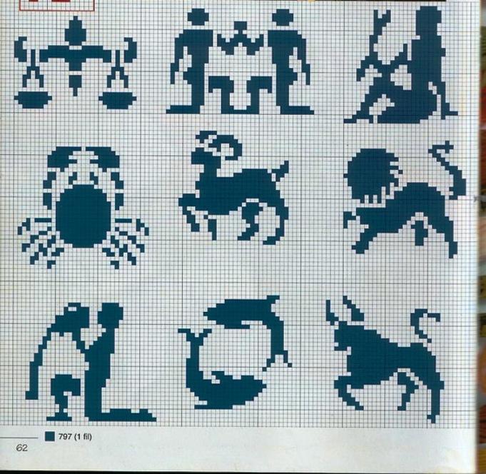 十二星座的绣、织图 - maomao - 我随心动