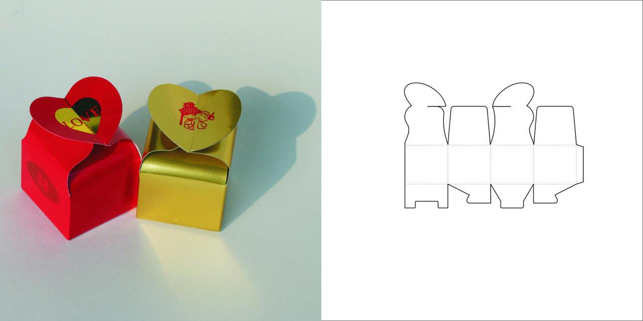 Как сделать коробочку из картона с крышкой своими руками сердце