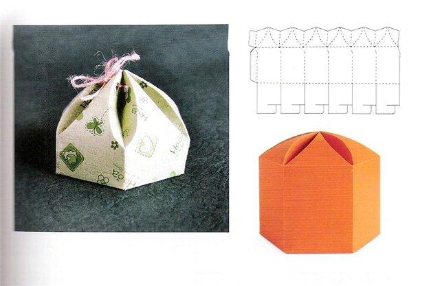 Коробочка из картона без клея своими руками схемы
