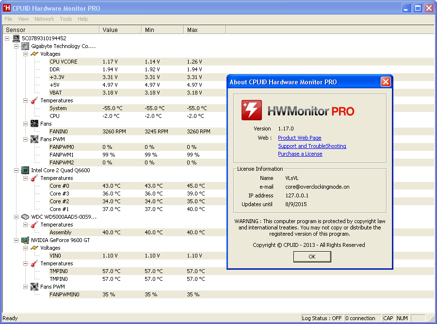 Hwmonitor pro serial number : geschcontdis
