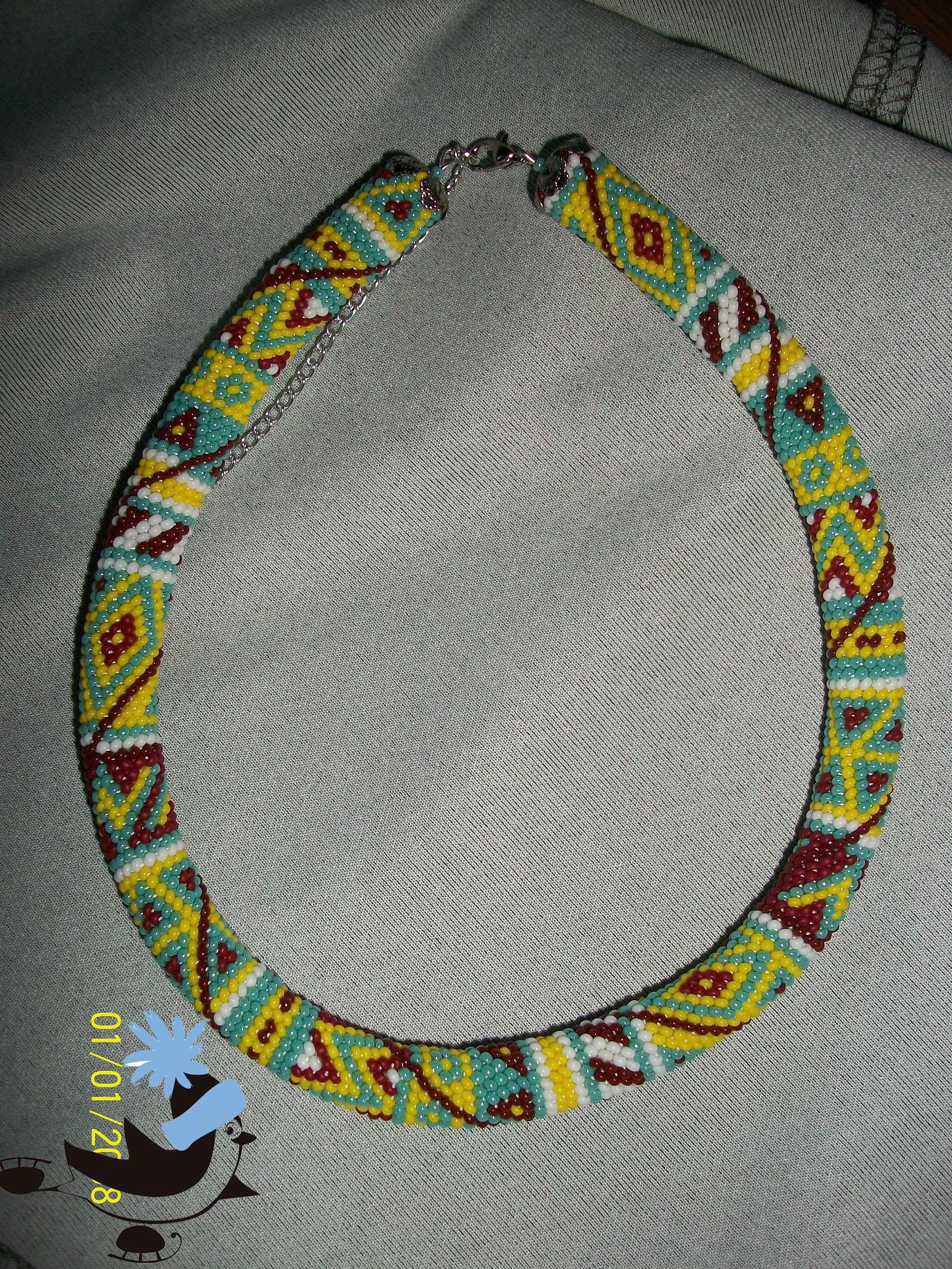 Вязание шнуры из бисера
