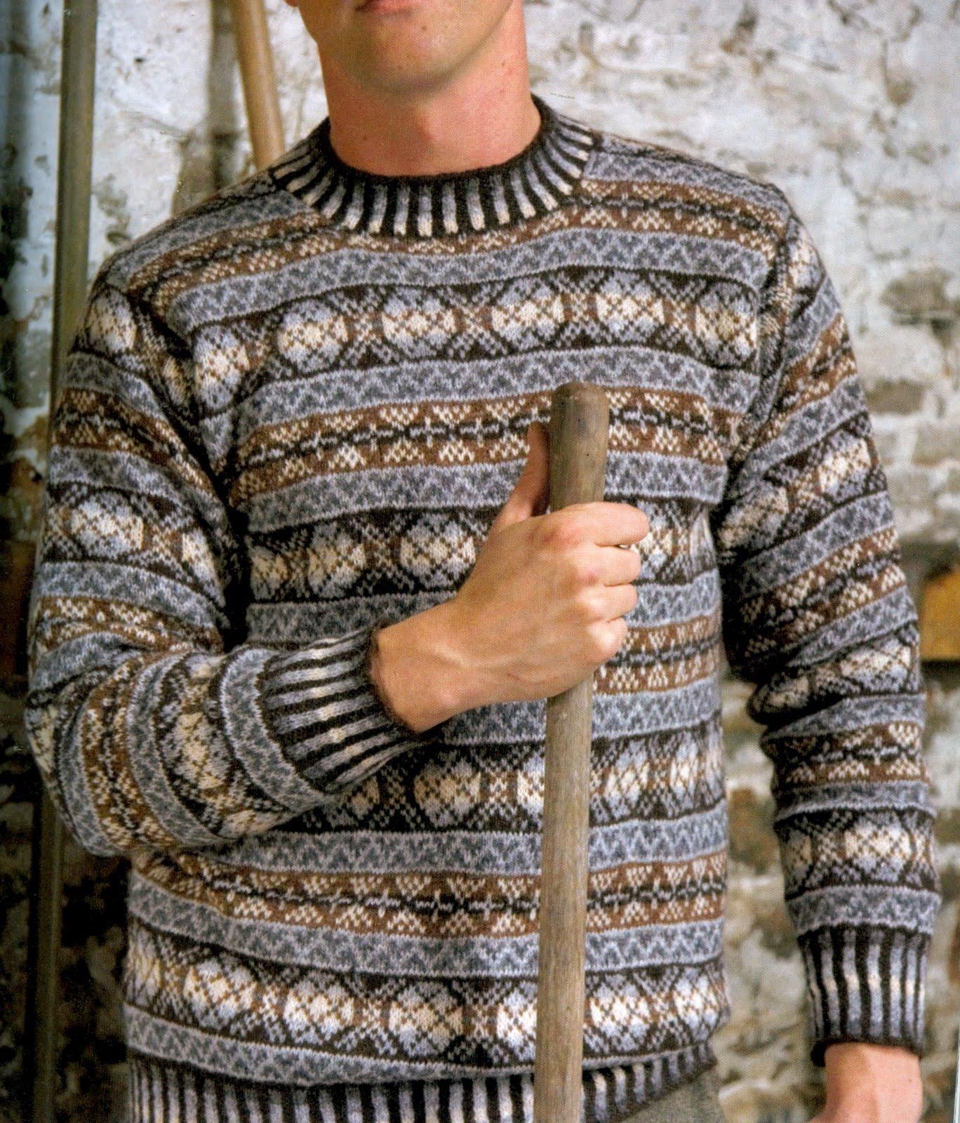 Норвежский свитер мужской вязание