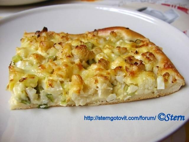 Пицца с цветной капустой и