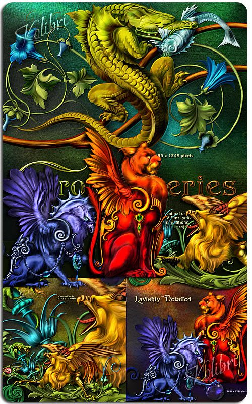 Scrap Set - Dragon & Mystical Animals