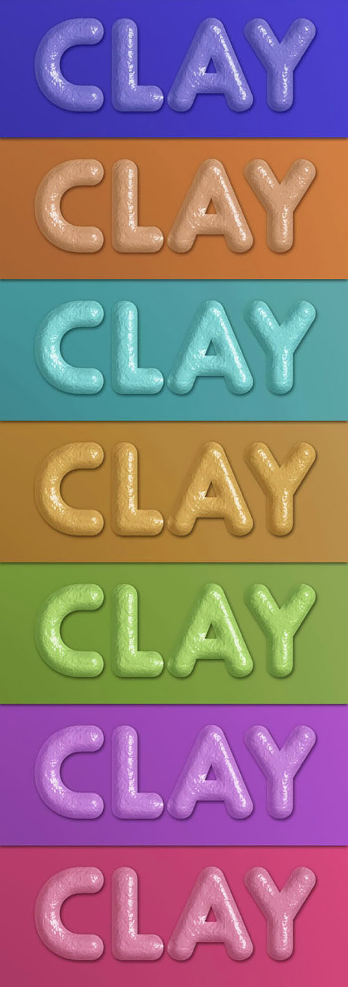 Color Clay Styles for Photoshop