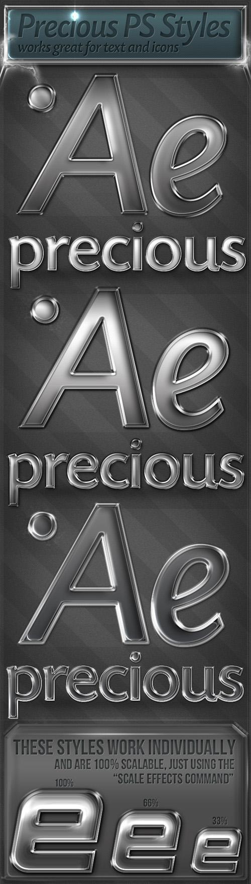 GraphicRiver - 7 Precious Metal Styles
