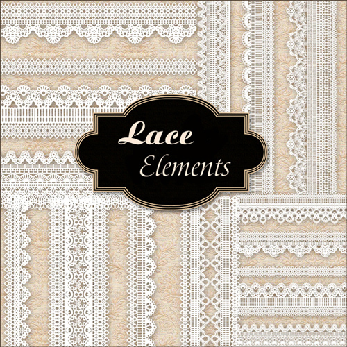 Scrap kit - Lace Elements