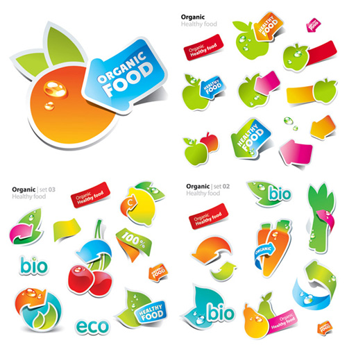 Vector - Eco Fruit Labels
