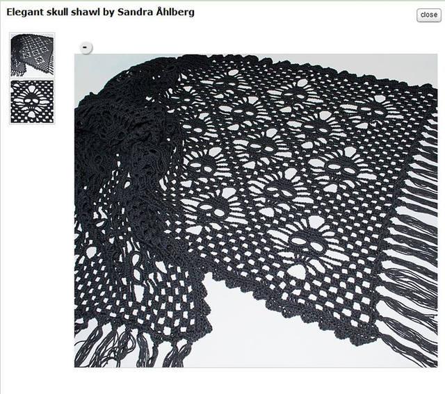 有趣的骷髅头钩针围巾/披肩(图解 教程) - 钩针姐姐 - 钩花博客钩针