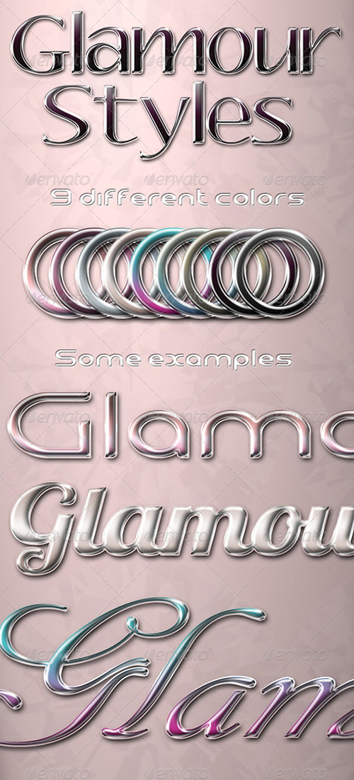GraphicRiver - Glamour Photoshop Styles