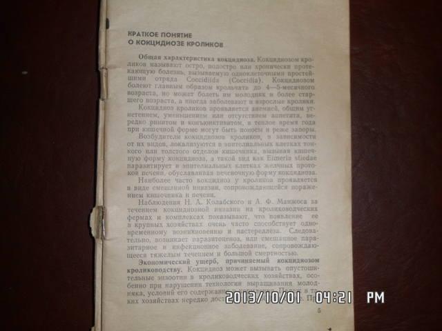 Кокцидиоз кроликов. Н.А.Колабский. 3210076_m