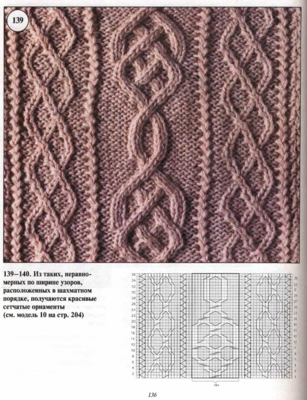 Вязание спицами ирландские узоры со схемами 94