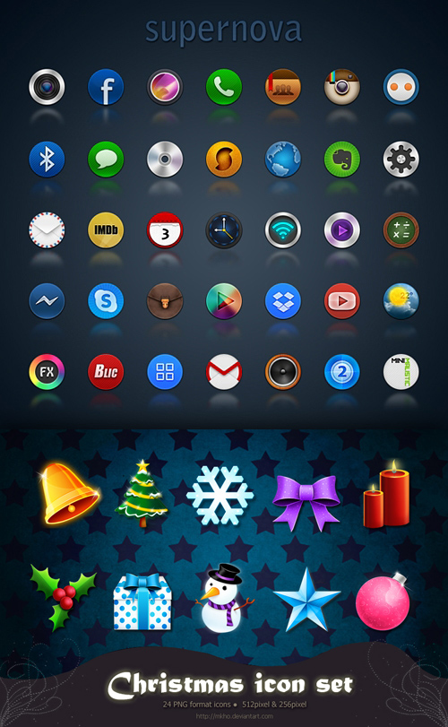 Supernova & Christmas Icons Pack