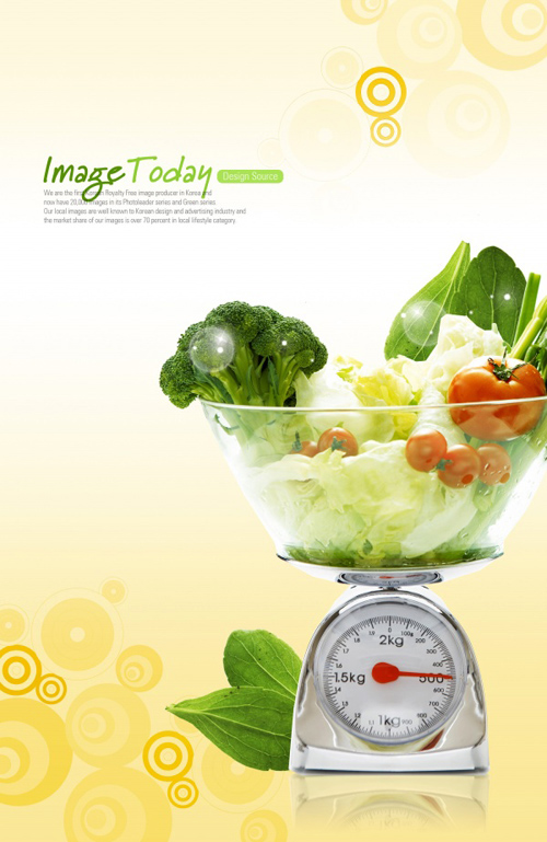 Healthy Food - PSD source for Posters
