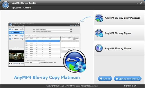 AnyMP4 Blu-ray Toolkit 6.1.6.14203 Rus Portable by Invictus